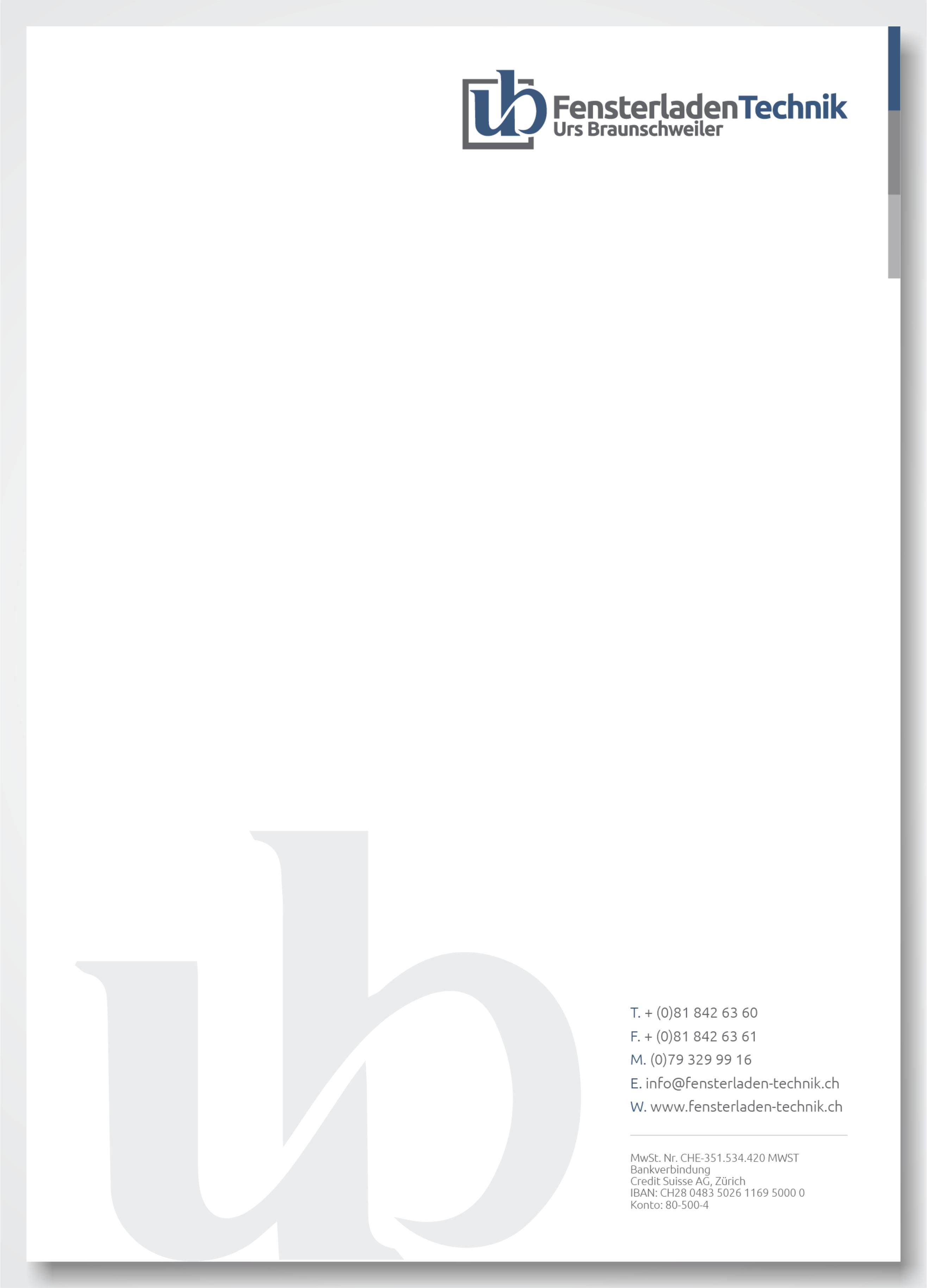 fensterladen technik stationery design