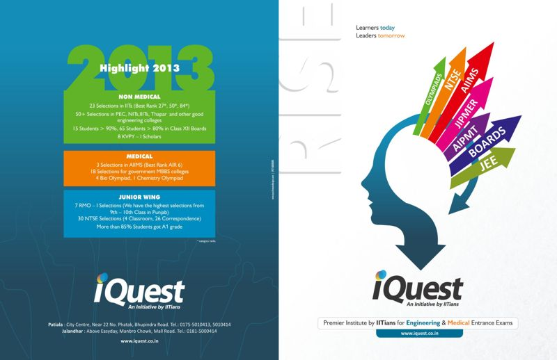 Title designs for iquest patiala india for College brochure design pdf