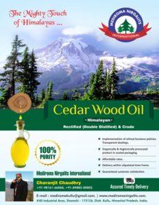Cedar Wood Oil Flyer Design