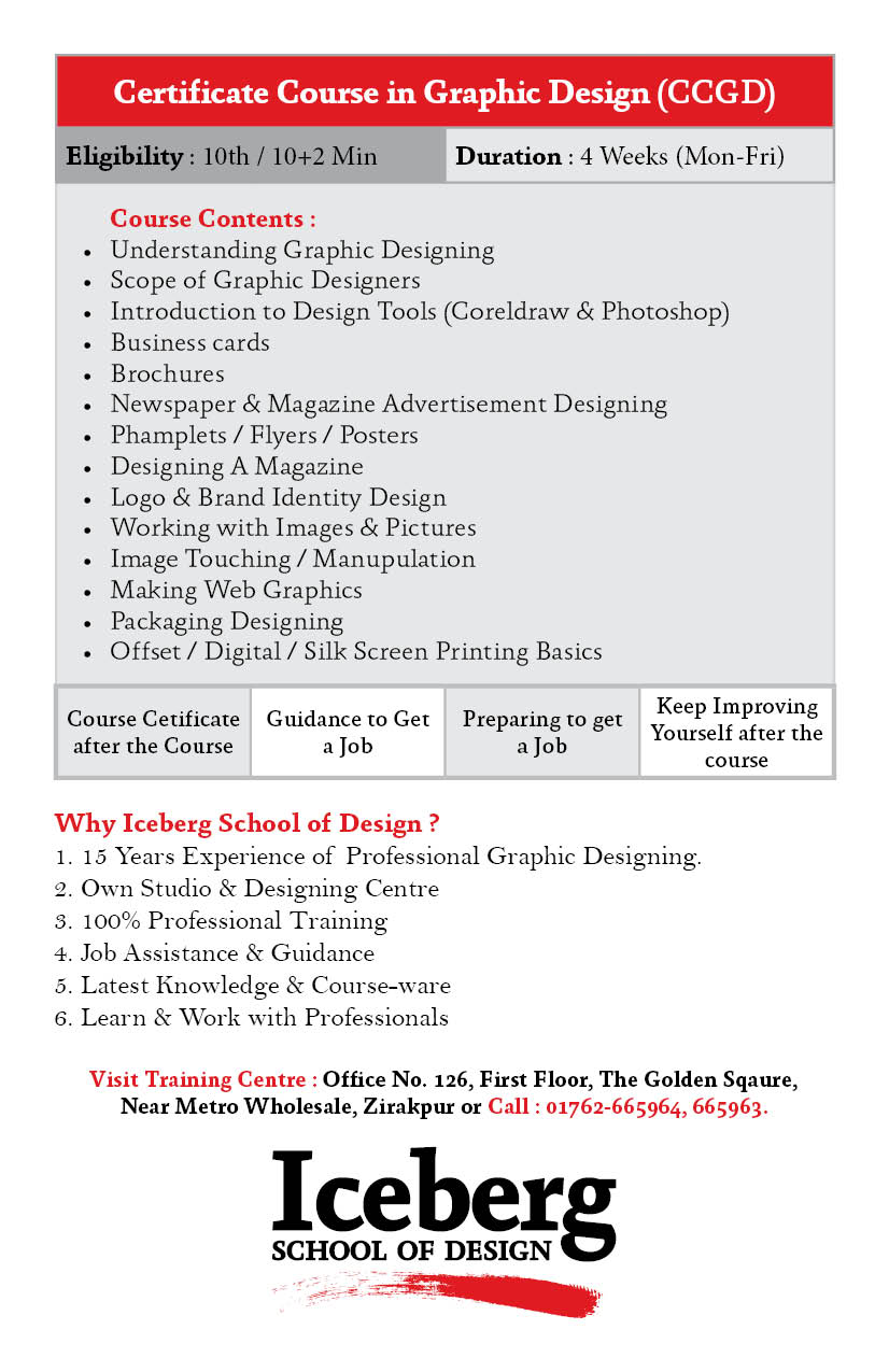 Learn Graphic Web Designing In Zirakpur