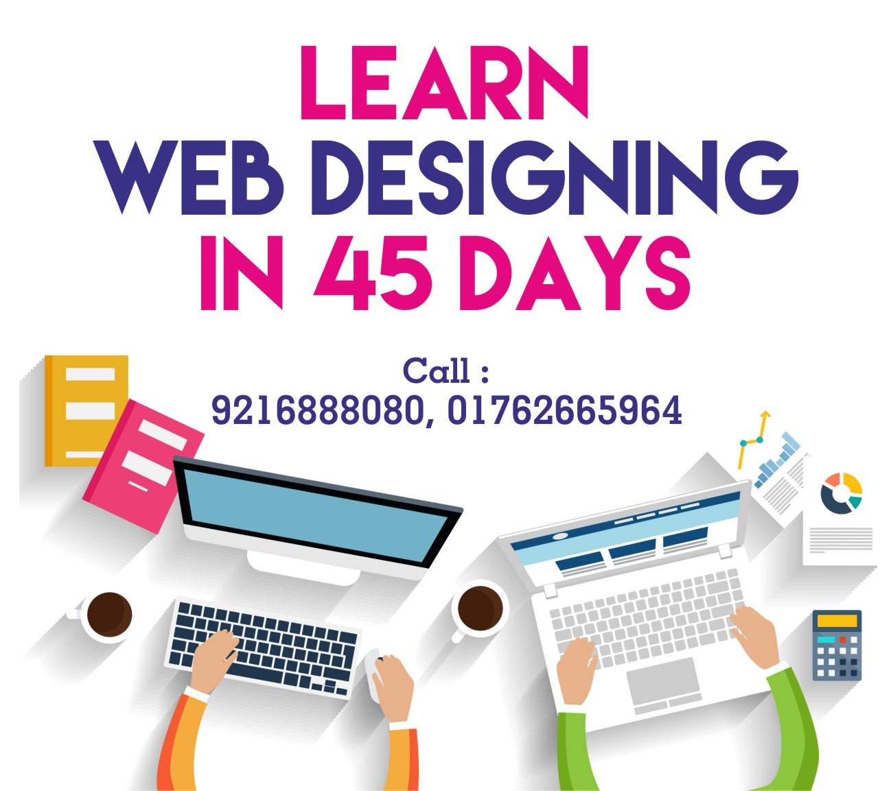 Web designing course in zirakpur for working professionals for How to learn web designing at home free